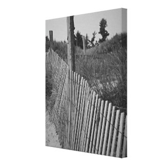 Canvas preto e branco da praia impressão em tela
