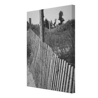 Canvas preto e branco da praia impressão em canvas