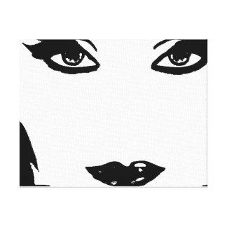 Canvas preto e branco de Mystikal Impressão De Canvas Envolvidas