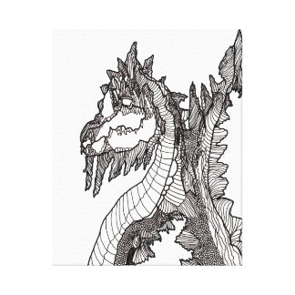 Canvas preto e branco dos trabalhos de arte do impressão em tela