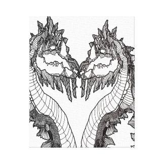 Canvas preto e branco dos trabalhos de arte dos impressão em tela