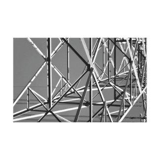 canvas preto e branco industriais impressão em tela