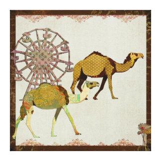 Canvas sonhadoras do carnaval dos camelos impressão de canvas envolvida