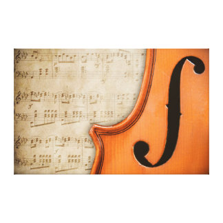 Canvas velhas do violino da antiguidade do vintage impressão em tela