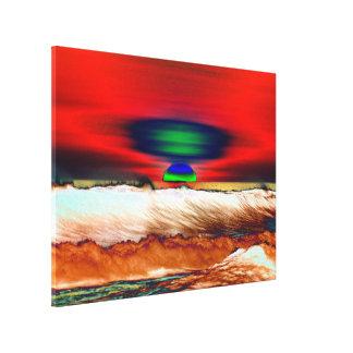 Canvas vermelhas abstratas LighthouseRoute da