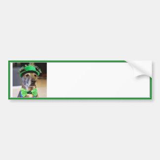 Cão afortunado do Dia de São Patrício Adesivos