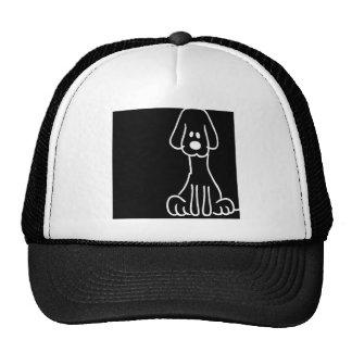 Cão animal abstrato do Doodle Bonés