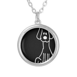 Cão animal abstrato do Doodle Bijuterias