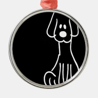 Cão animal abstrato do Doodle Enfeite