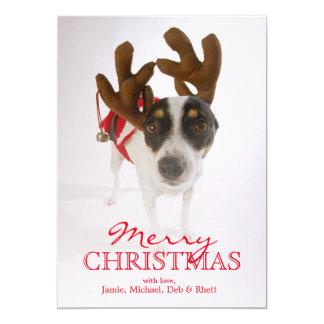 Cão com Antlers e Bell Convite 12.7 X 17.78cm