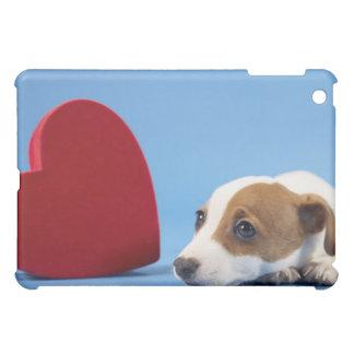 Cão com coração capa iPad mini