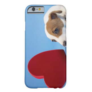 Cão com coração capa iPhone 6 barely there