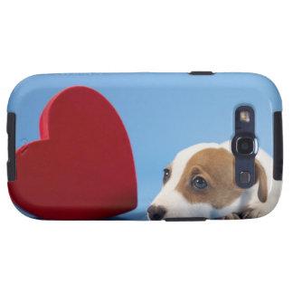 Cão com coração galaxy SIII capa