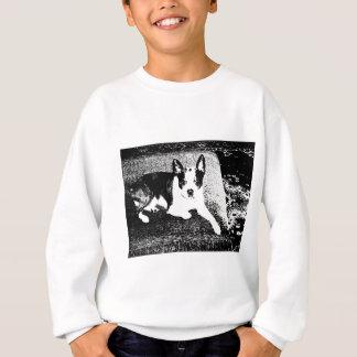Cão da caneta e da tinta no coxim camisetas