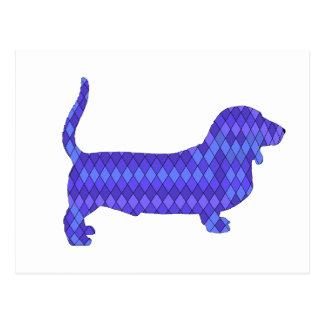 cão de basset cartão postal