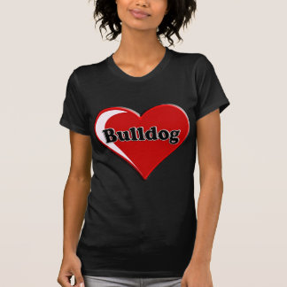 Cão de Bull no coração para amantes do cão Camiseta