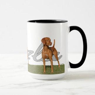 Cão de caça de Viszla com a CANECA do nome da raça