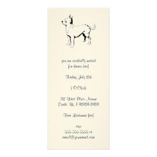 Cão de estimação da chihuahua convites