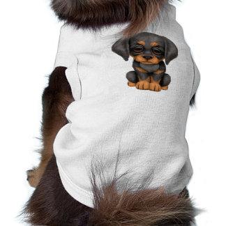 Cão de filhote de cachorro bonito do Pinscher do D Camisa Sem Mangas Para Cachorro