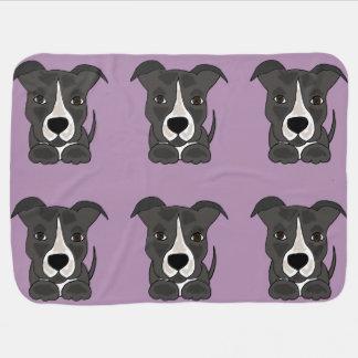Cão de filhote de cachorro cinzento engraçado de cobertores para bebe