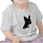Cão de filhote de cachorro preto engraçado do t-shirts