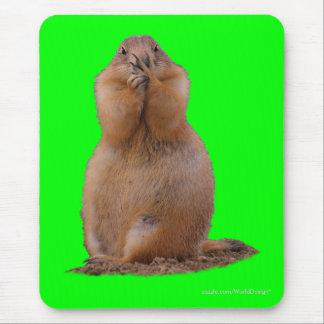 Cão de pradaria com expressão engraçada mouse pad