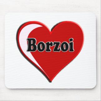 Cão do Borzoi no coração para amantes do cão