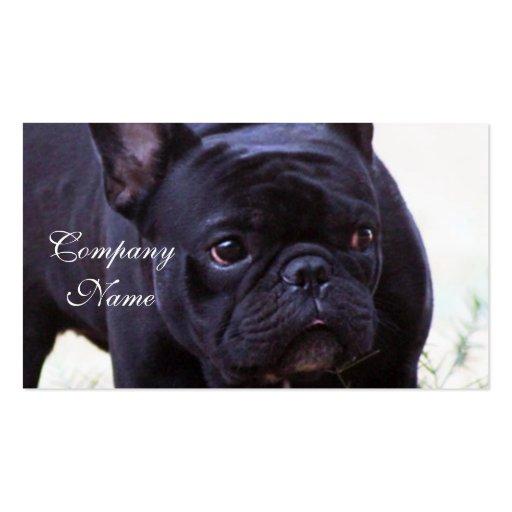 Cão do buldogue francês cartoes de visita