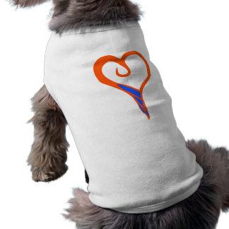 cão do coração camisa sem mangas para cachorro