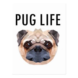Cão do design do Pug original Cartão Postal
