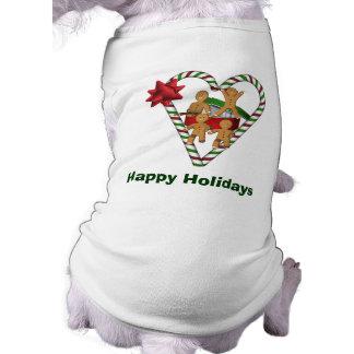 Cão do feriado do Natal dos homens de Camisa Sem Mangas Para Cachorro