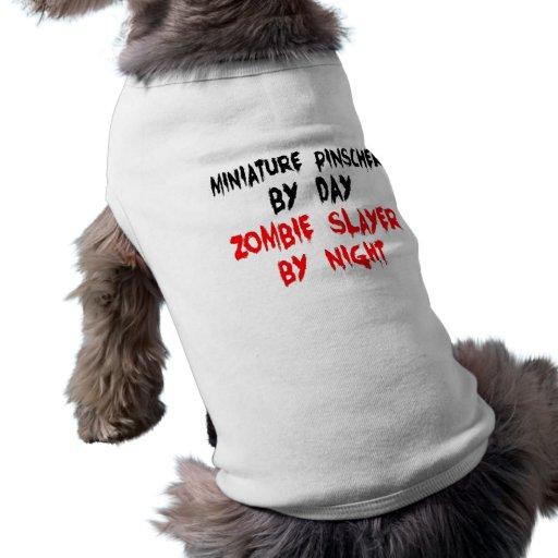 Cão do Pinscher diminuto do assassino do zombi Roupas Pet