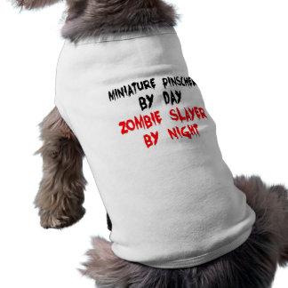 Cão do Pinscher diminuto do assassino do zombi Camisa Sem Mangas Para Cachorro
