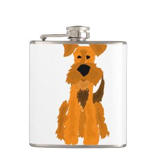 Cão engraçado de Airedale Terrier