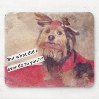 Cão engraçado o que eu faço? mouse pad