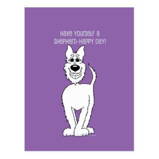 Cão pastor branco Smile Cartão Postal
