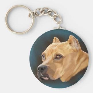Cão vermelho de Pitbull Chaveiro