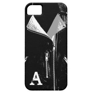 Capa Barely There Para iPhone 5 Caixa branca do iPhone 5 do monograma do casaco de