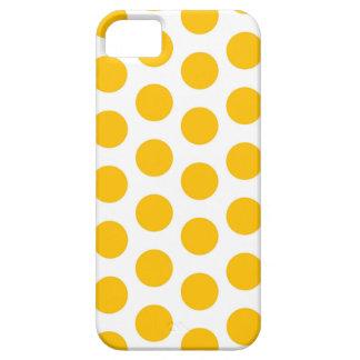 Capa Barely There Para iPhone 5 Caso do iPhone 5 do amarelo do ponto de Polki