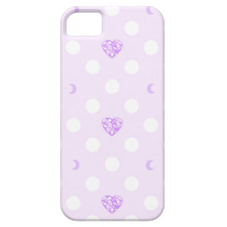 Capa Barely There Para iPhone 5 Cristal e lua Pastel do coração