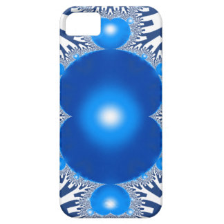 Capa Barely There Para iPhone 5 Fractal azul