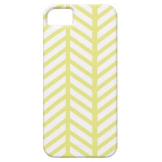 Capa Barely There Para iPhone 5 Herringbone amarelo