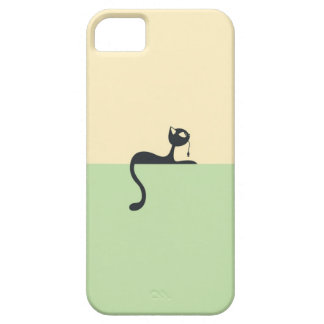 Capa Barely There Para iPhone 5 Iphone5 case with a cat art theme