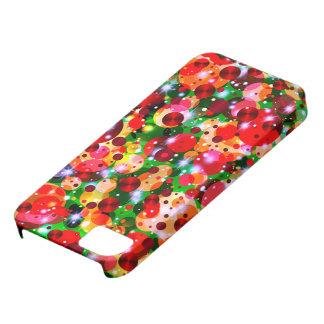 Capa Barely There Para iPhone 5 SE da celebração Dots-2-iPhone+caso 5/5s
