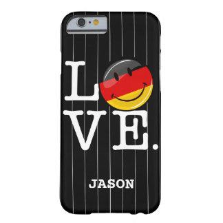 Capa Barely There Para iPhone 6 Amor da bandeira de sorriso de Alemanha