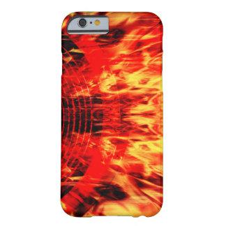 Capa Barely There Para iPhone 6 Auto-falante da música com chamas