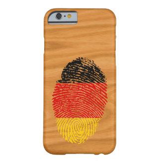 Capa Barely There Para iPhone 6 Bandeira alemão da impressão digital do toque