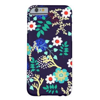 Capa Barely There Para iPhone 6 Botânico da meia-noite - teste padrão floral