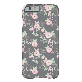 Capa Barely There Para iPhone 6 Carvão vegetal de Charlotte floral