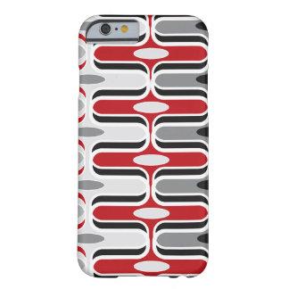 Capa Barely There Para iPhone 6 CaseMate vermelho retro da arte preta de teste